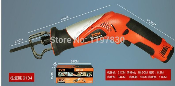 best selling Free shipping high quality 1500mAH TCH 12V lithium reciprocating saws saber saw portable electric power tools universal using