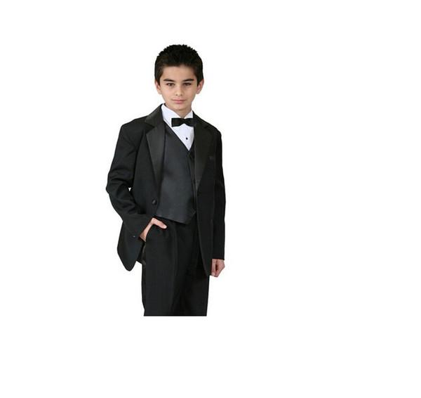 High qulity boy suit for wedding fashion three-piece boy suit tuxedos pure color formal occasion suit (jacket+pants+vest+tie)