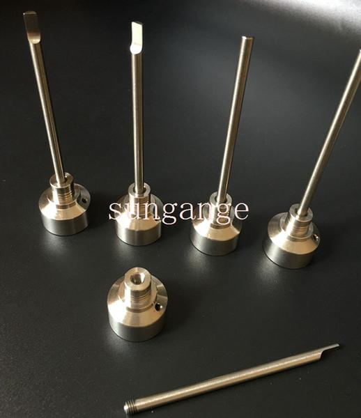 Nuovi chiodi universali in titanio con tappo in titanio GR2 Chiodi in titanio senza titanio con inserto in titanio per entrambi i 10mm 14mm 18mm VS Chiodo per ceramica chiodo al quarzo
