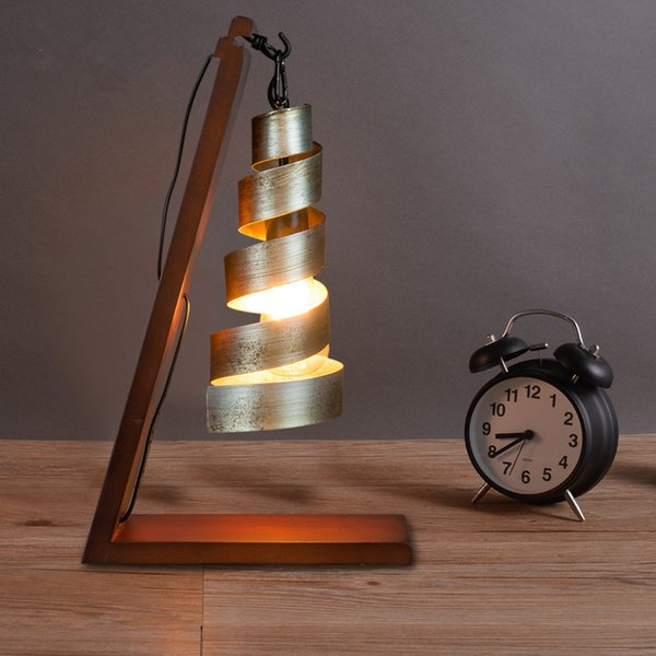 Nordic vintage industrial table lamps wood iron retro desk lamps nordic vintage industrial table lamps wood iron retro desk lamps bedroom bedside lamps luminaire light fixtures aloadofball Image collections