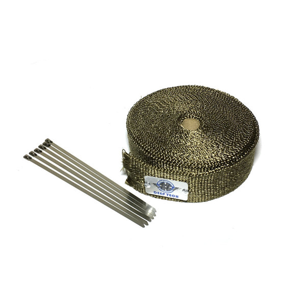 15m Motorcycle Exhaust Muffler Pipe Header Heat Wrap Heat Resistant Wrap For Motor Downpipe With 6 Pcs Cable Ties
