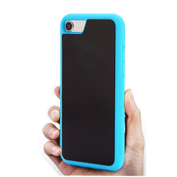 Anti Gravity Selfie Magique Nano Collant Absorption Hybride PC TPU Housse Pour iPhone 7 Plus 6 Plus 5s 6 s Samsung S7 S6 Edge Plus Note5 Chaud