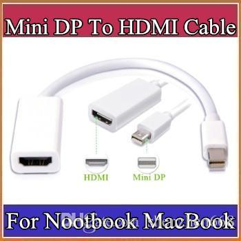 Thunderbolt Mini DisplayPort To HDMI Adapter Display Port Hub Male Female DP Cable Converter For iMac Macbook Pro Air Laptop B-PS