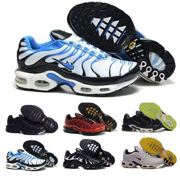 Acquista Nike Tn Plus Air Max Nuovi Uomini TN Plus Scarpe Vendono Come Le Torte Calde Moda Aumentato Ventilazione Casuale Scarpe Oliva Scarpe Da