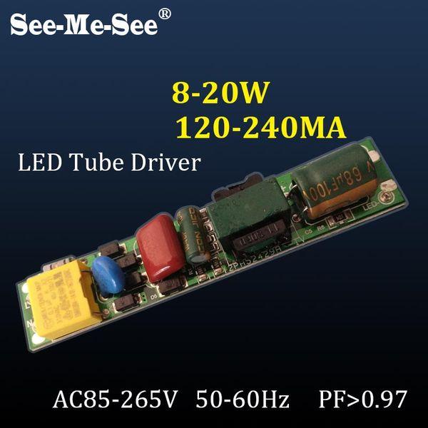 9W 12W 16W 18W LED Controlador Sin aislamiento 110V 220V para 0.6M 0.9M 1.2M T5 T8 T10 Fuente de alimentación de corriente constante SMDY-2 para tubos