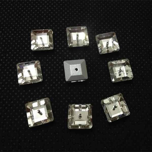 6 мм 8 мм 10 мм 12 мм 14 мм Pointback площади Lochrose шить на камень кристально чистый цвет средний одно отверстие швейные стеклянные кристаллы платье решений