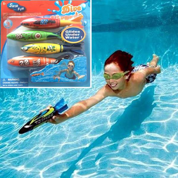2016 summber Wasserspielzeug Dive Torpedo Rocket Schwimmbecken Spielzeug Schwimmen Tauchen Torpedo Werfen Spielzeug Beste Geschenke