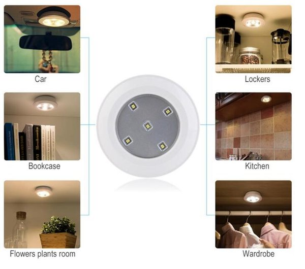 2019 Wireless Led Puck Light 5 6 Pack With Remote Control Operates