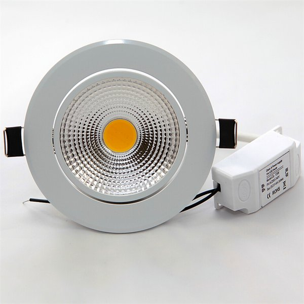 free shipping 85-265V Dimmable 12W led COB Light led bulb light 12W LED COB Downlight Led Bulb Warm/Pure/Cool White