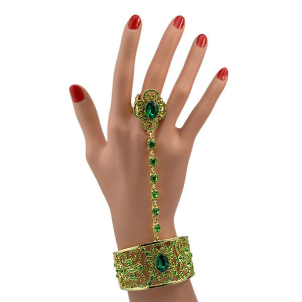 2017 New fashion one bracelet + diamond bracelet ring women jewelry, valentine's day gift