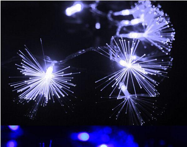 10 M 100 LEDs Cadena de fibra óptica Luces de hadas Lámpara de cadena Luz Árbol de Navidad Evento del banquete de boda Nuevo AÑO Home Hotel decoración