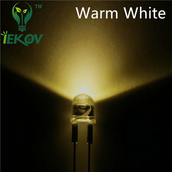 1000pcs/bag 8mm 0.5W Straw Hat Warm White High Power Ultra Bright LED Light F8MM Led Electronic Components light Emitting Diodes Wholesale