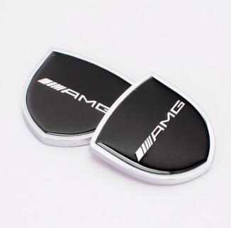 1pair 39x39mm Car Styling ///AMG Zinc Alloy Car Side Sticker Badge Emblem car sticker Mark High Qulity fit for Mercedes