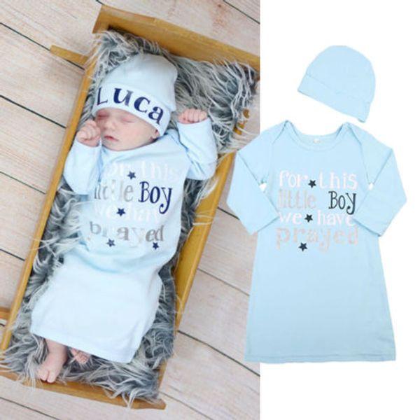 Newborn Infant Boys Cotton Blanket Sleeping Bag Stroller Wrap+Hat 2Pcs Outfits Cotton Soft Kid Clothing set Long Sleeve Nightwear Baby Boys
