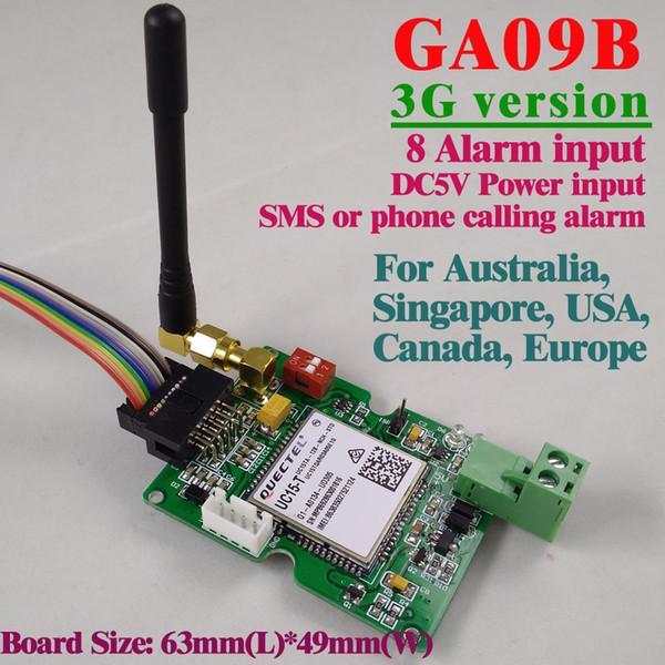 Al por mayor-Envío gratis 3G Versión GSM Alarma SMS Alerta de alarma inalámbrica GA09B Unidad de sistema de alarma de seguridad doméstica e industrial