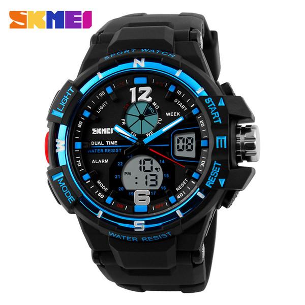 Original SKMEI 1148 Esporte dos homens LED Digital À Prova D 'Água militar Calendário pulseira de borracha Multifuncional relógio de Pulso
