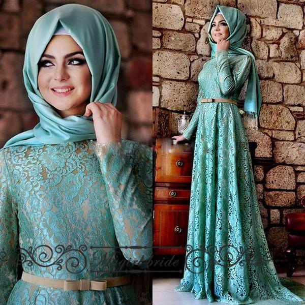 Turkish Evening Dresses Kaftan Abaya Long Dubai Dress Elegant Arabic ...