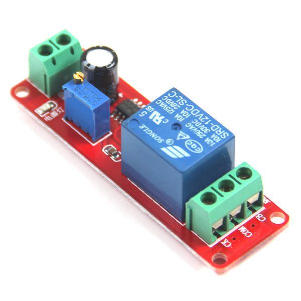 1Pc DC12V Interruptor de retardo de extracción Interruptor ajustable Módulo de relés 0 a10 Segundo rojo B00283