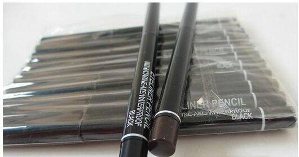 top popular 12PCS Lot Pro Brand Makeup Rotary Retractable Black Gel Eyeliner Beauty Pen Pencil EyeLiner 2021