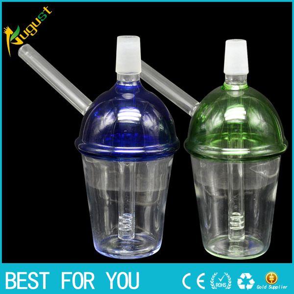Новая стеклянная чашка 2 Размеры стеклянные водопроводные трубы стекло Бонг барботер трубы нефтяные вышки совместный размер 14 мм 19 мм стекло кальян без логотипа