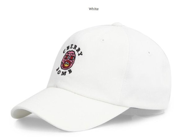 Exclusive New Cherry Bomb Snapbacks Embroidered Hat Baseball Cap Half Curved Street Golf Wang Snapback Caps Casquette Gorras Hats Mix Order