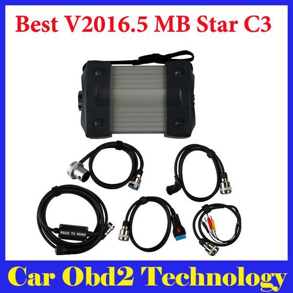 Beste Qualität V2016.5 MB Star C3 Pro Für Benz Trucks Autos Mit 5 Kabeln durch DHL Freies Verschiffen