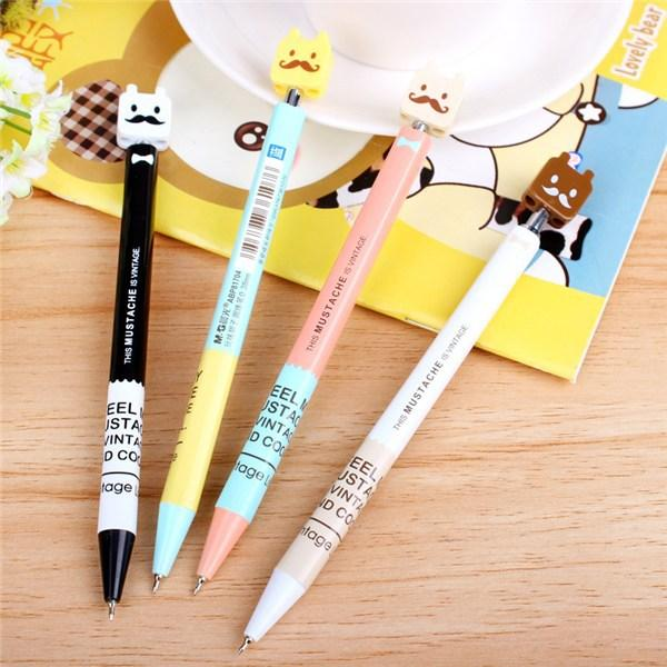 5 pcs/lot Student cartoon beard ballpoint pen 0.38mm pens for writting Kawaii stationery zakka Canetas escolar school supplies