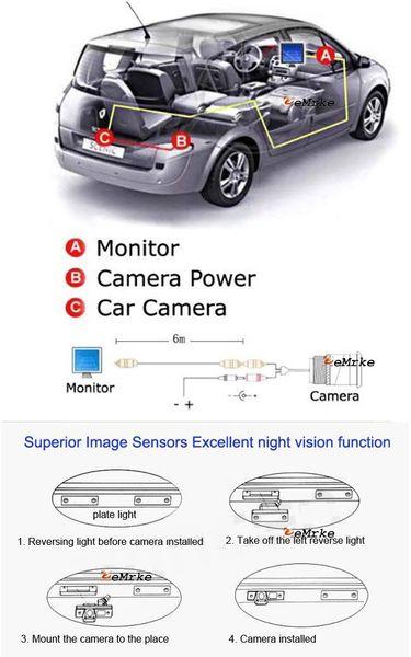Per auto Audi TT / TTS Telecamera per visione posteriore / Telecamera di parcheggio Telecamera HD CCD Night Vision C-1002-TT