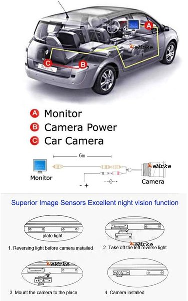 For Audi TT / TTS car Rear View Camera / Back Up Parking Camera HD CCD Night Vision C-1002-TT