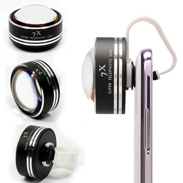 Atacado-para iphone 6 plus super 7x telefoto móvel telefoto telescópio câmera telefoto lente foto para iphone6 plus samsung note4 apl-7xst