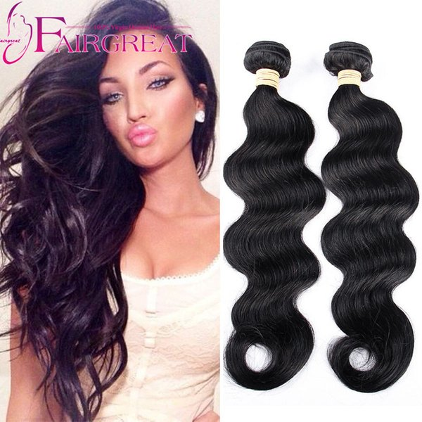 Indian Loose Wave Grade Indian unprocessed wavy hair 2pc lot cheap Human hair Extensions 8-28inch Loose Wave Indian human hair extension