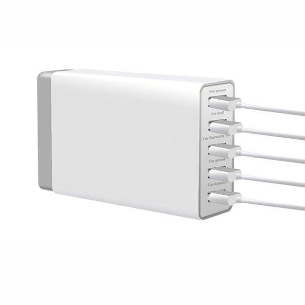 5-портовый USB зарядное устройство 5V 40W зарядное устройство 5 USB зарядная док-станция 5V / 8A Универсальный мобильный телефон зарядное устройство настольное зарядное устройство