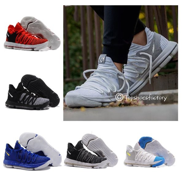 best website aa6fd 47589 New Arrival FMVP Kevin KD X 10 Elite 8 Playoffs Men Basketball Shoes  Correct Version Warriors Home Wolf Durant 10S Training Sports Sneakers  Shoes ...