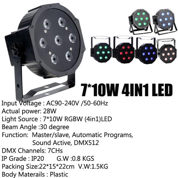 7 * 10W 4-IN-1 LED