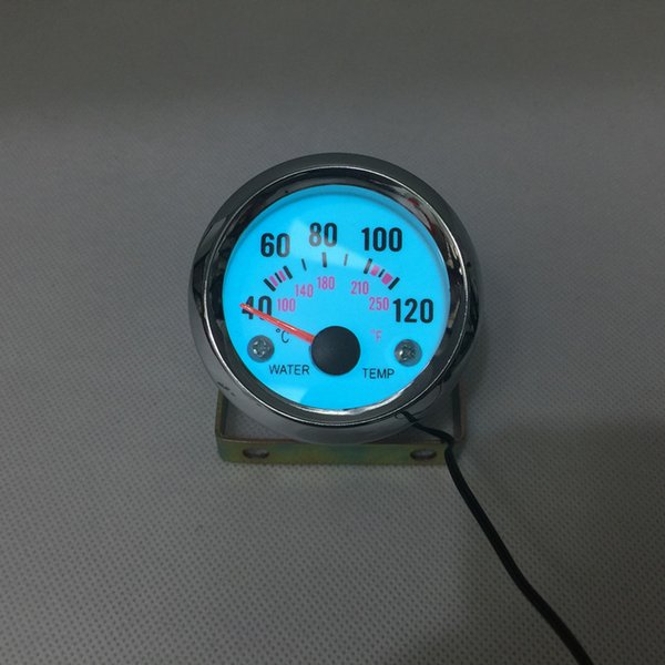 "best selling 2"" 52MM WATER TEMP AUTO GAUGE WITH SENSOR EL LIGHT DISPLAY &CHROME RIM  AUTO GAUGE CAR METER"
