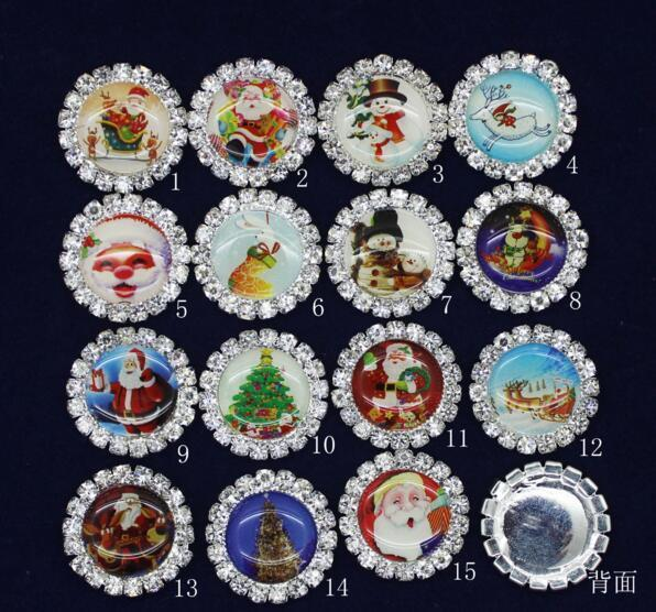 20mm 50pcs Bling Christmas decoration Rhinestones Buttons Flatback DIY Crystal Button Jewelry Accessory HOT Sewing Craft PB-07 Fashion