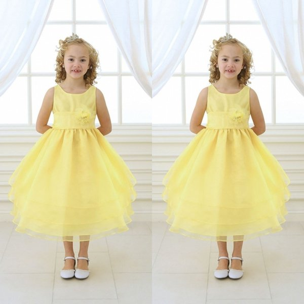 Tea Length Yellow Skirt