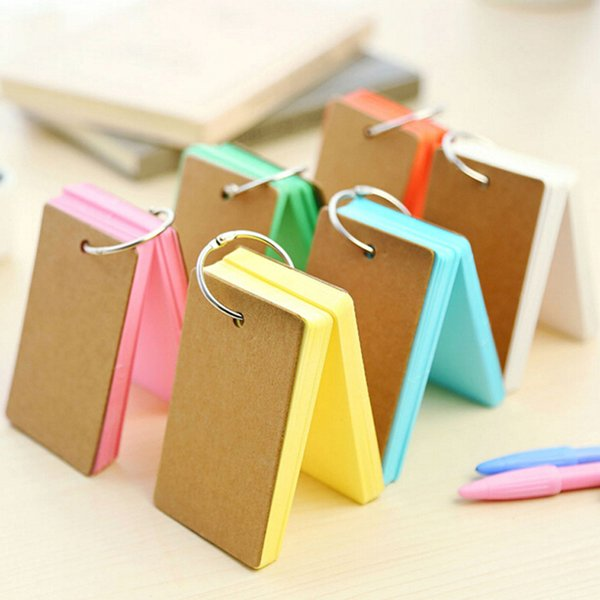 4pcs/lot Color Pages Mini Memo Pad Notebook Gift Stationery School Office Home Supplies Portable Notepad Free Shipping Prize