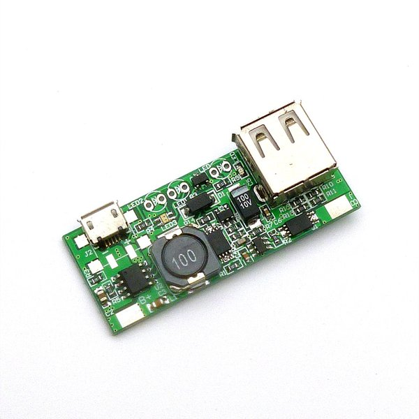 Mobile power chip 5V boost board mobile phone charger with identification module (Micro Interface) Free shipping