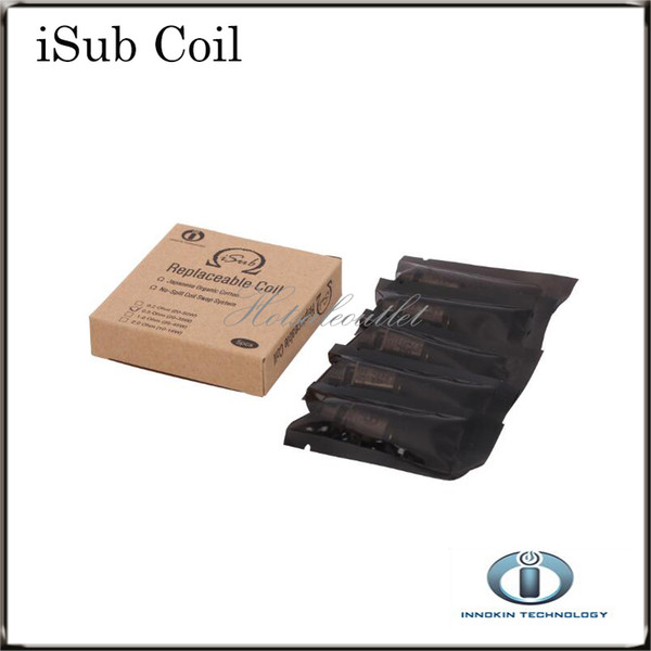best selling Innokin iTaste iSub Coils iSub Ti Coil 0.4ohm 0.5ohm 0.2 ohm 2.0 ohm iSub SS BVC 0.5 Replacement Coils For iSub Tanks 100% Original in Stock
