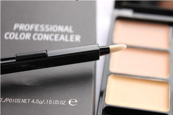 Be te t elling m c makeup c009 3 color cream concealer palette with bru h 4 5g brand color concealer