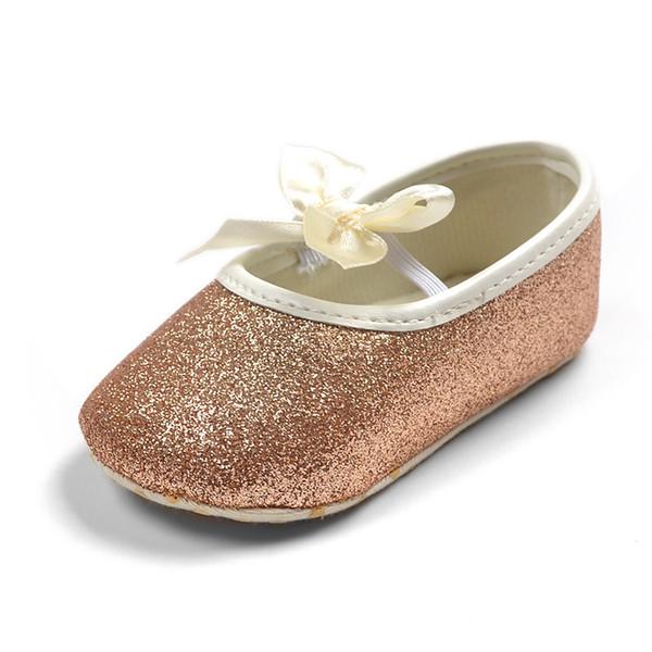 Brillant bébé Bling anti-Slip fille bowknot princesse chaussures