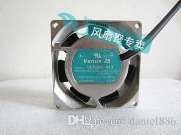 Ventola di raffreddamento con telaio in alluminio AC SERVO 2 fili originale VE50B5-913 220V 8CM 80 * 80 * 25