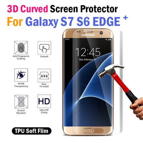 S7 Edge Screen Protector Film TPU Clear Full cover Film for Samsung Galaxy s7 Edge s6 Edge Plus Full Body Cover Curved Screen Protector