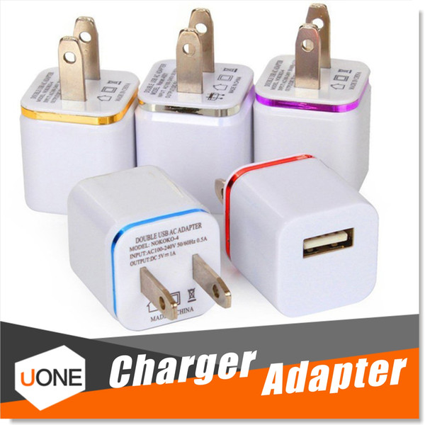top popular For iPhone 7 Plus Wall Charger, High Quality 1A 5V Universal USB Ac Wall Travel Power Home Charger Adapter for Samsung S7 iPhone 6 6S Plus 2021