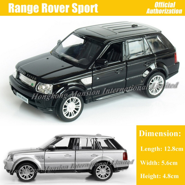 1:36 Scale Diecast Alloy Metal Car Model For Range Rover Sport Collection Model Pull Back Toys Car - Black / Silver / Blue / Red / Green