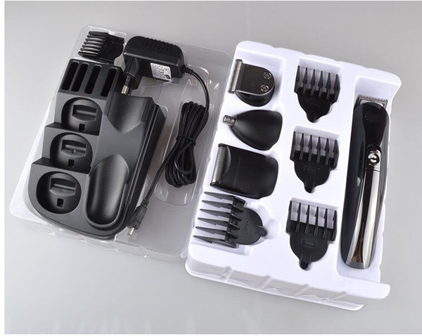 8 in 1 Professional Electric Hair Clipper rechagerable Trimmer Razor all in one man grooming kit nose hair cutter mustache shave