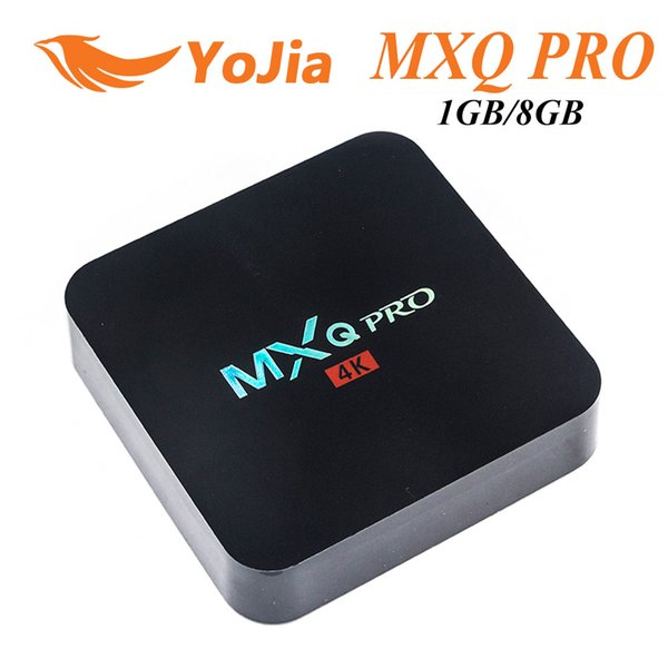 top popular MXQ Pro Rockchip RK3229 Quad Core Android TV BOX 1GB 8GB 2.4GHz WiFi H.265 HD 2019