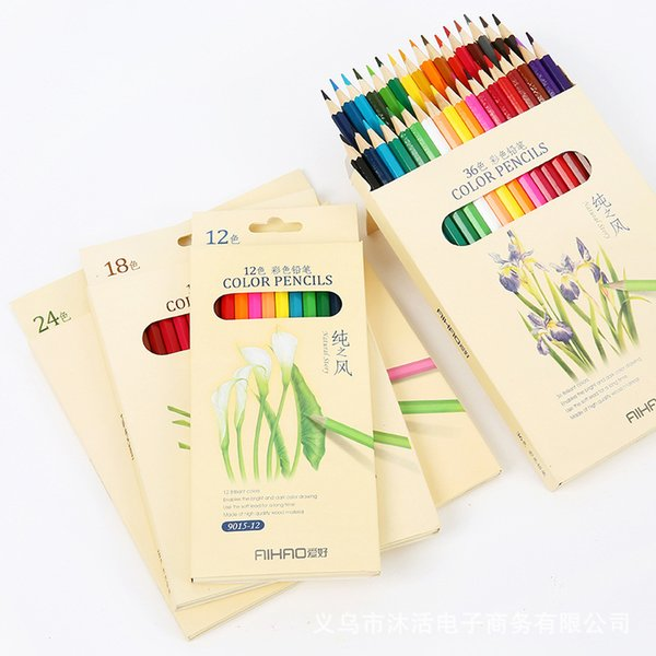 Acquista Matite Colorate Scatole Disegni Disegni Penne Graffiti Art