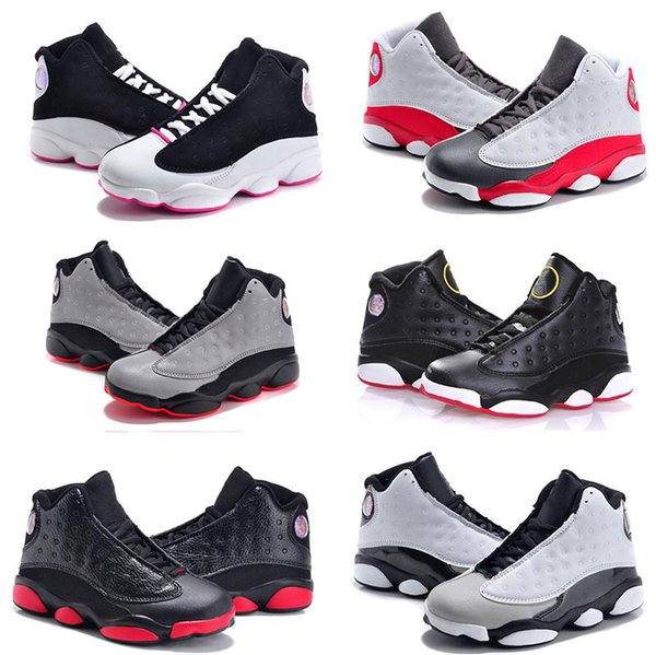 cheap Kids 13 Shoes Children Basketball Shoes for Boys Girls 13 Black Sports Shoe Toddlers Athletic Shoes Birthday Gift